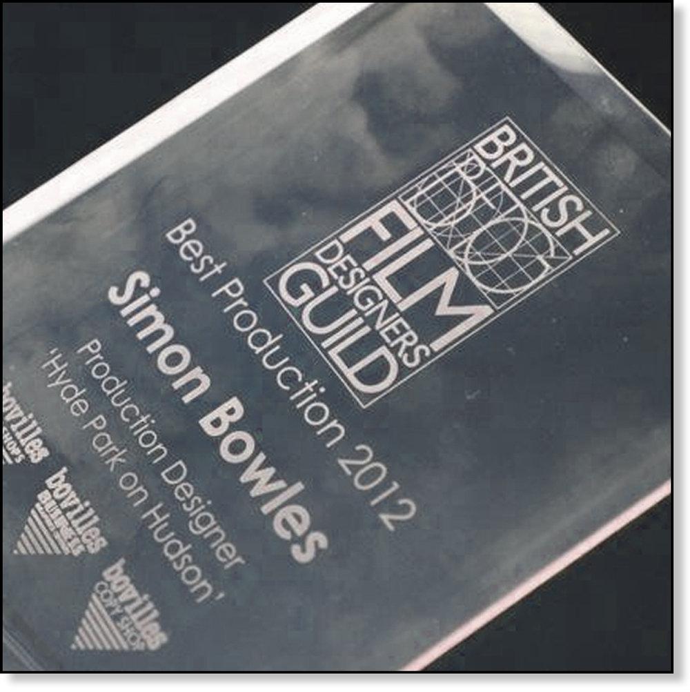 WON BRITISH FILM DESIGNERS GUILD AWARD 2012