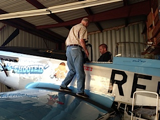 "AG1 Member Chuck Hall and the P-51 Mustang ""Six Shooter"""