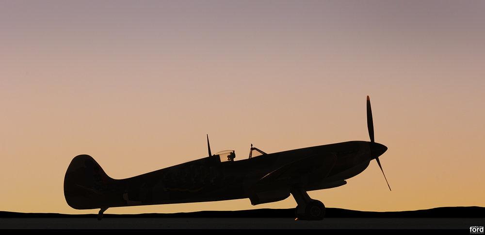 Spitfire Sunset