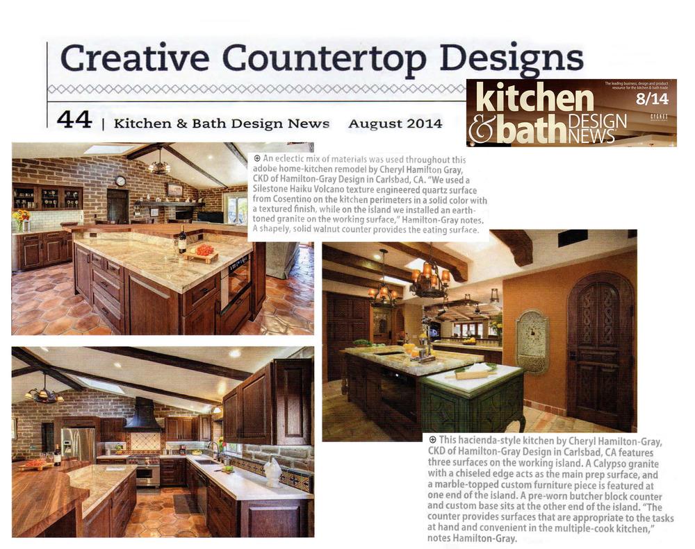 Superieur Kitchen U0026 Bath Design News August 2014 Publication U2014 Hamilton Gray Design,  Inc.