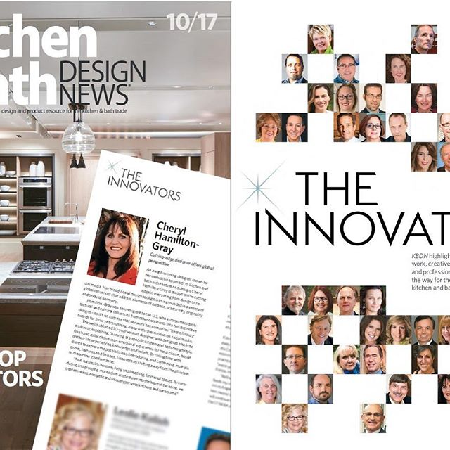 We are so honored to be in the company of such exceptional designers!  See the latest (October) edition of Kitchen & Bath Design News -- The Top 50 Innovators.