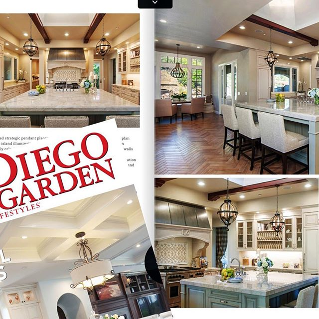 Kitchen spread featured in January edition of SD Home/Garden: http://www.sandiegohomegarden.com/January-2018/Looking-Up/