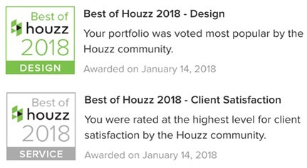 Voted BEST OF HOUZZ in 2 Categories! https://hamiltongraydesign.com/blog/2018/1/18/voted-best-of-houzz-in-2-categories