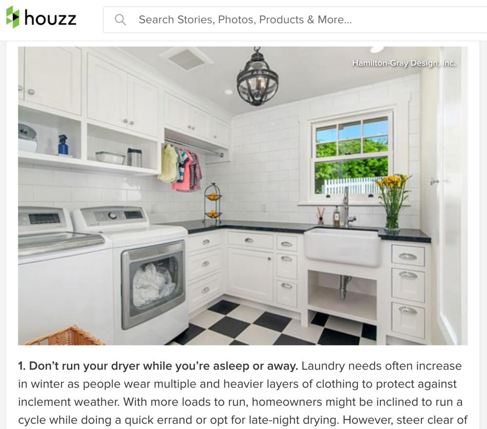 - PRESS:HOUZZ.comHamilton-Gray Design laundry room featured in