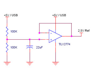 Figure 4 2.5V Voltage Reference and Voltage Follower Buffer