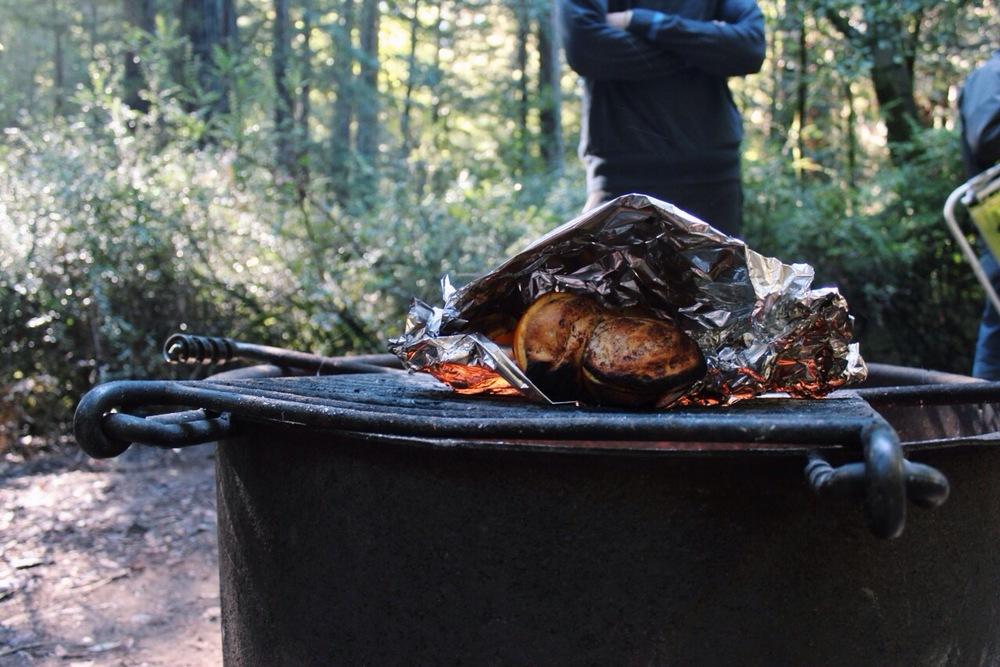 Cinnamon Rolls Camping