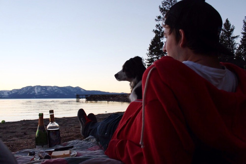 Lake Tahoe Beach Sunset Picnic