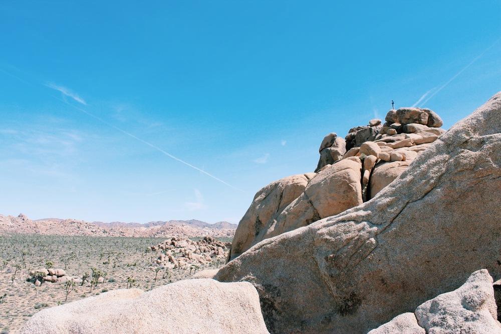 Climbing in Joshua Tree