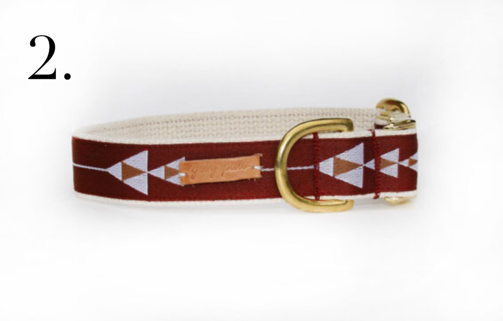 Grey Paw Maroon Arrow Collar