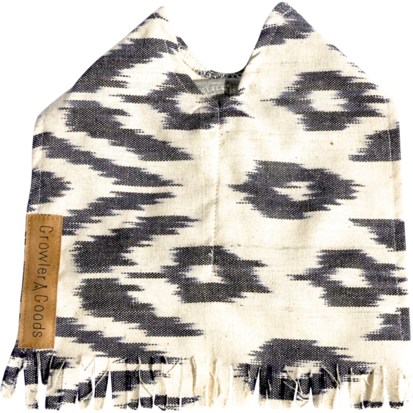 Ocotillo Dog Ponch in Char  coal Ikat ($65)