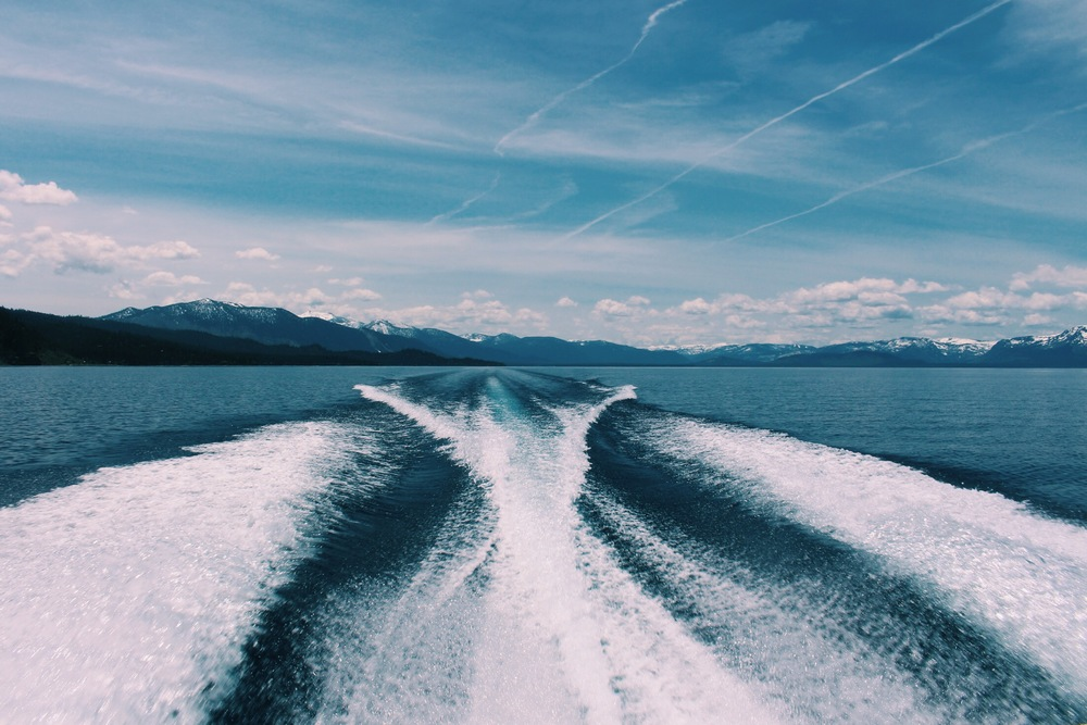 Boat Wake in Tahoe