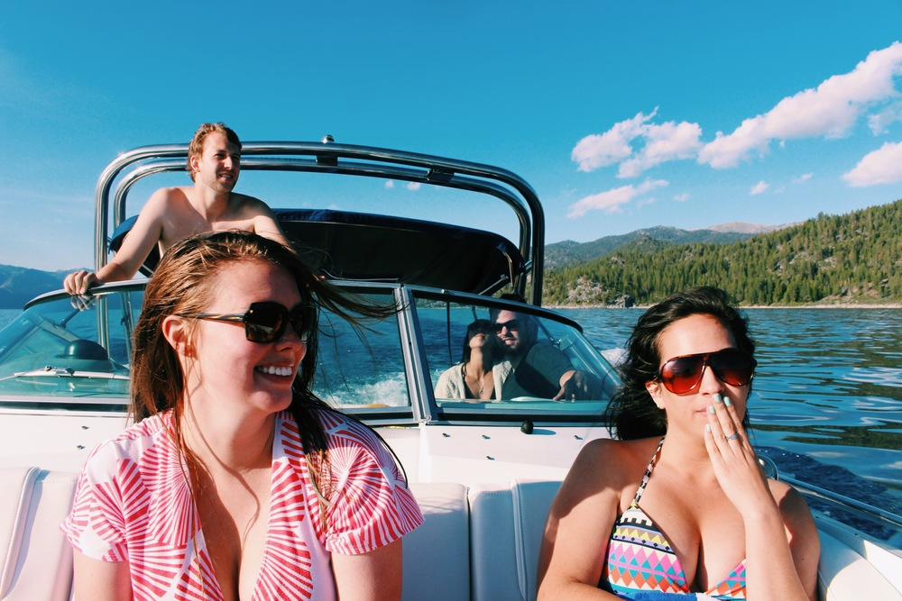 Boating in Tahoe
