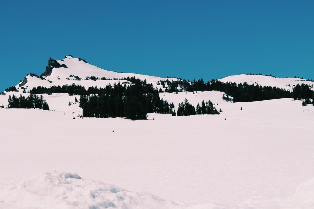 Crater Lake Snow