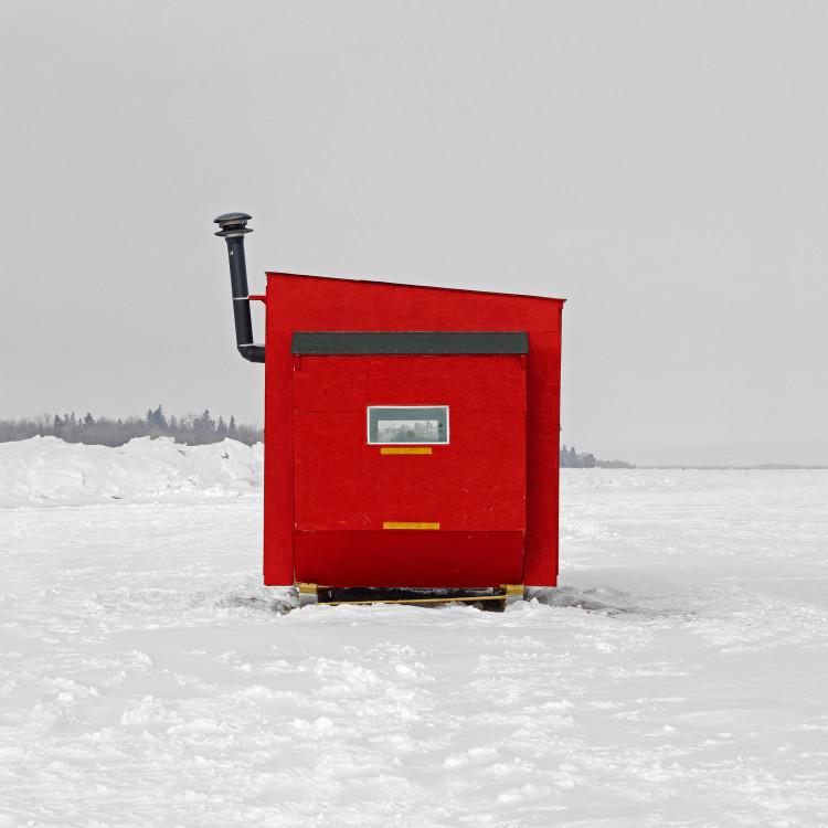 Ice Hut No. 401a. Winnipeg Beach, Lake Winnipeg, Manitoba. 2010. Richard Johnson