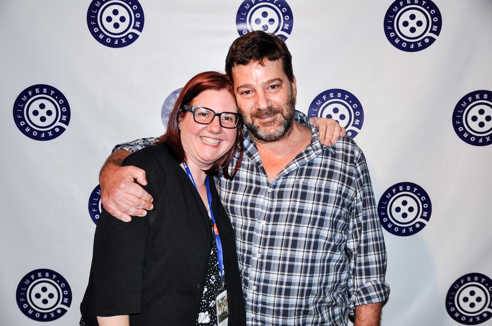 Executive Director Melanie Addington with Lisa Blount Memorial Acting Award recipient Robert Longstreet.