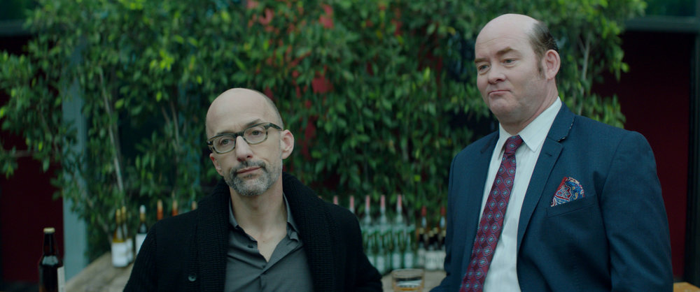 Jim Rash and David Koechner in Bernard & Huey.