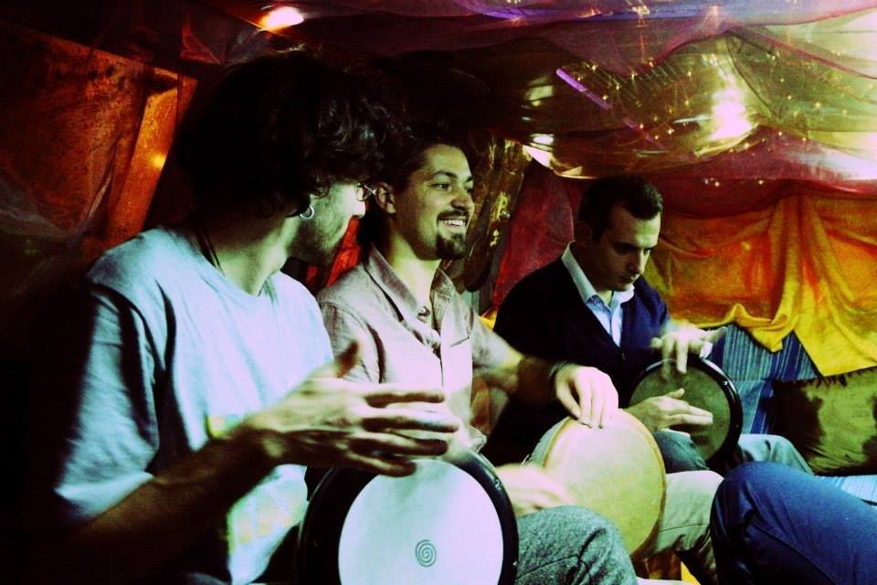 Darbuka party in limo
