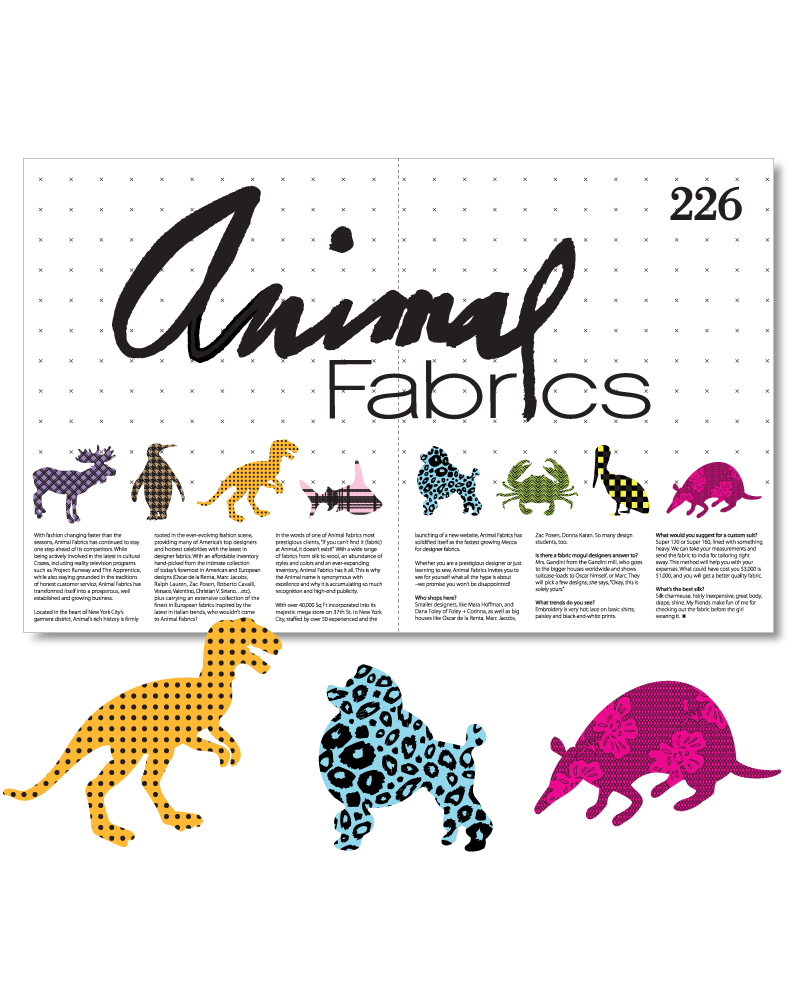 Animal Fabric Magazine Spread