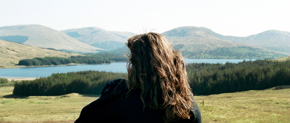 Photo of Ren surveying the Highlands by Benjamin.
