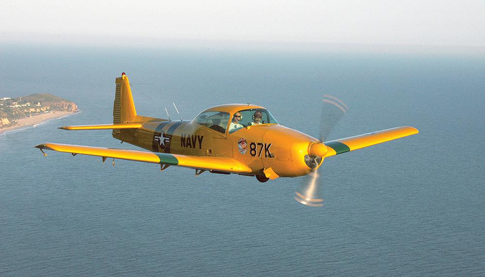 Cruising off shore Malibu - Pt Dume in a 1950 Ryan Navion L-17