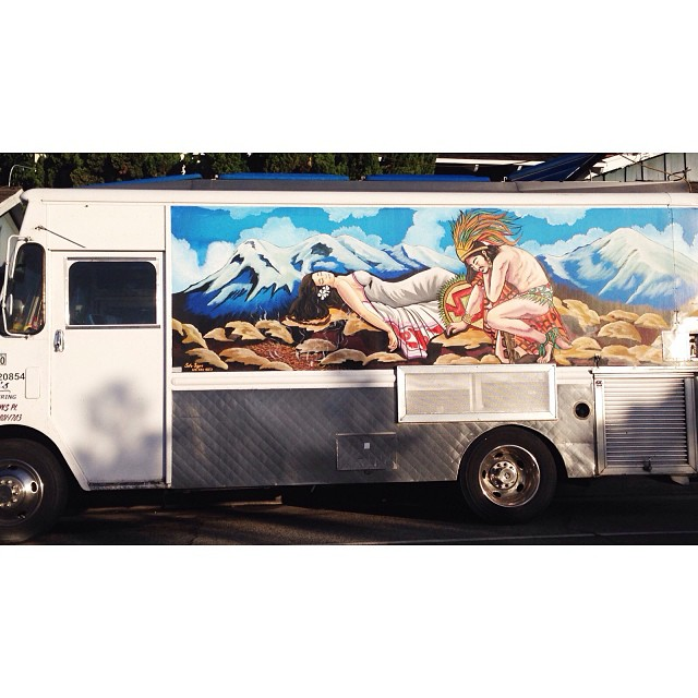 I drove past this great truck on my way to the studio today… I love LA!