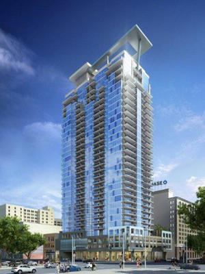 Vancouver-based developer the Onni Group plans to break ground by August on a 32-story tower at 888 S. Olive St. It would create 283 apartments and open in 2015. ( Full Story )