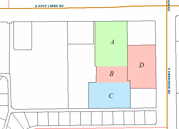 The owner of Parcel B purchases adjacent property, Parcel D, giving Parcel B access through Parcel D to South Harrison Road