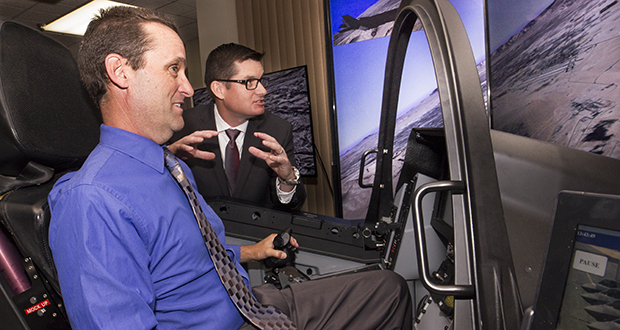 Knight Flies F-35 Lightning II Fighter Simulator In Santa Clarit
