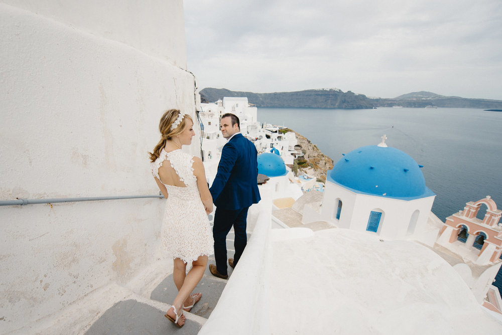 Oia Santorini Greece Destination Elopement Wedding Photographer Colby and Jess
