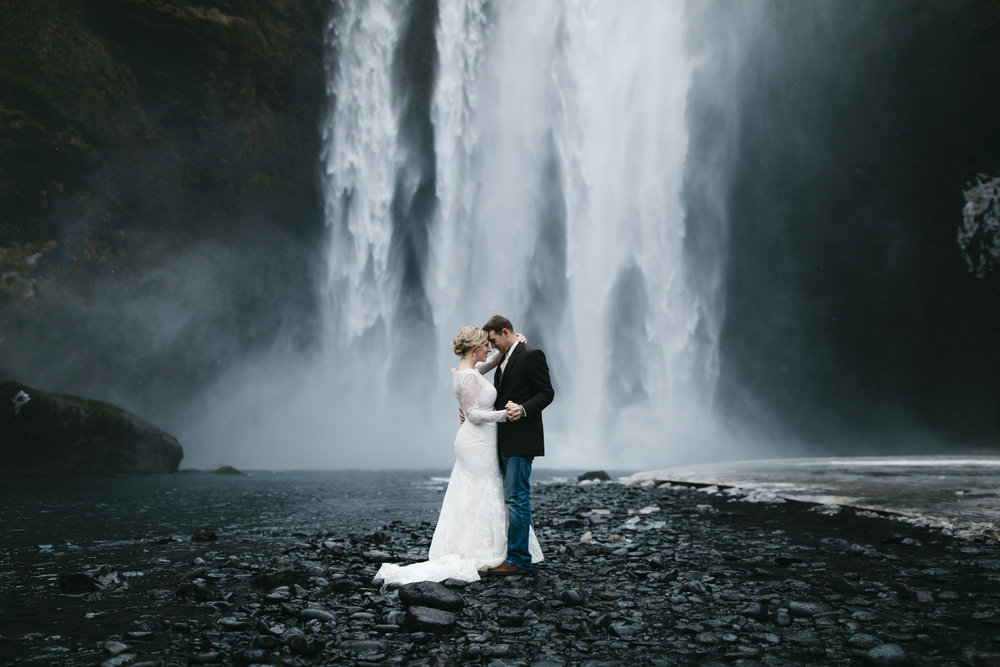 Skogafoss, Iceland  Elopement Photographer