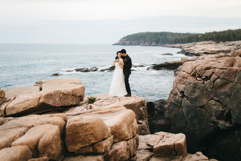 Acadia National Park, Maine  Elopement Photographer