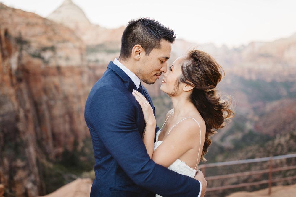 Zion National Park, Utah  Adventure Wedding Photographer