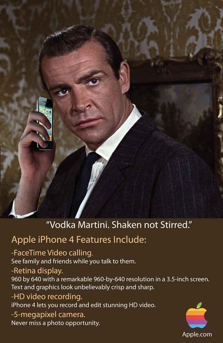 iPhone 4 Retro Ad