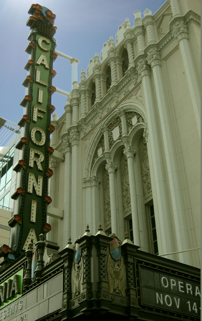 California Theatre - 1st Street Facade