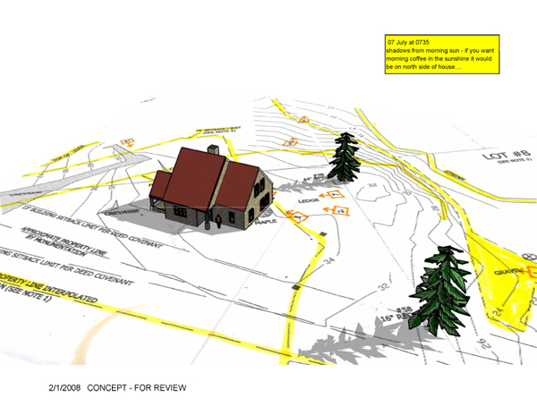 Maine Cottage Site Plan