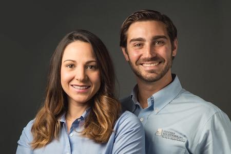 Valeria Colimodio and Daniel Escobar