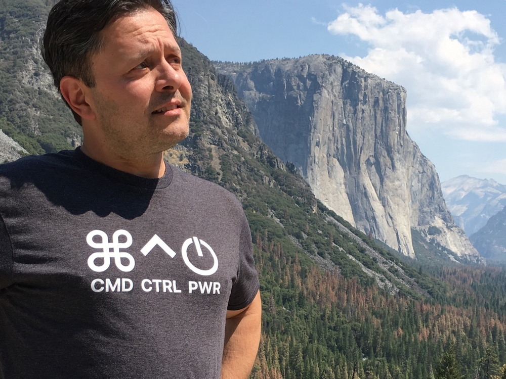 Good freind of the show and fellow ACN, Michael Reinhart, sporting his snappy CCP t-Shirt On location