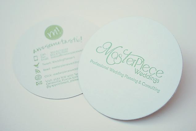 FUN COASTER BUSINESS CARDS Leslie Vega Design