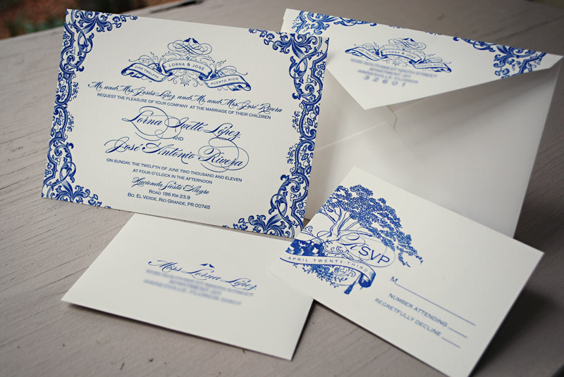 Gorgeous Puerto Rico Wedding Invitations Leslie Vega Design