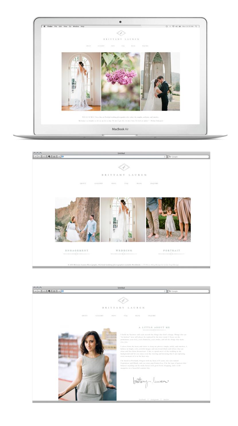 Brittany Lauren ProPhoto Web Design