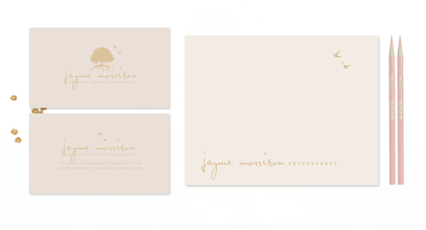Jayme Morrison Gold Foil Stationery