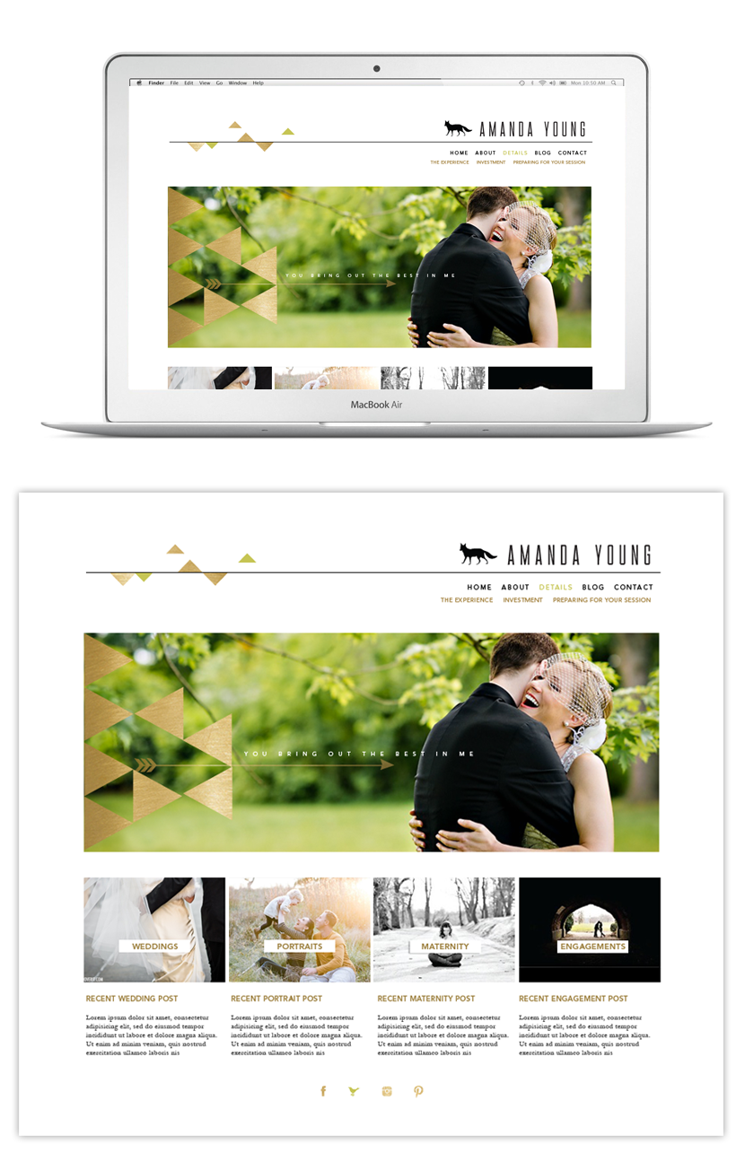 Amanda Young Photography Web Design