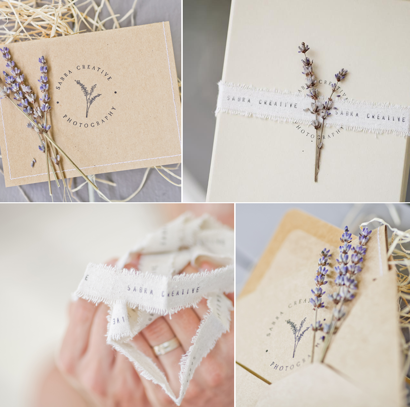 Sabra Creative Photography Note Card and Packaging