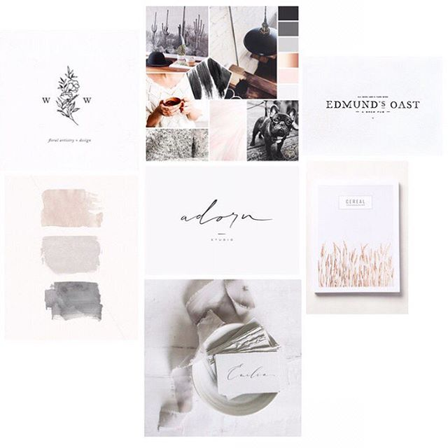 Hellooo #MoodBoardMonday! Yes, I'm one of those creatives that looks forward to Mondays because this is when we get to dive in again with no interruptions. ⠀⠀⠀⠀⠀⠀⠀⠀⠀ So, this is a little sneak at the second option mood board I actually put together for my re-brand but decided to go another direction. This might be a great fit for someone, so it's worth putting out there! To all my soft, romantic creatives out there, double tap me if it speaks to you!🙋🏻☝🏼 . . . . . . . #MoodBoardMonday #branding #logodesign #leslievegadesign #brandidentity #branddesigner #branddevelopment #branddesign #brand #softbrand  #photographybrand #moodboard #pinkandgrey #neutrals #colorpalette