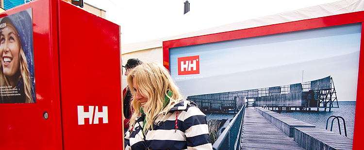 Helly Hansen event marketing display