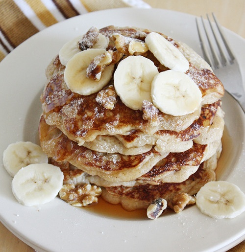 Banana Coconut Walnut Pancakes