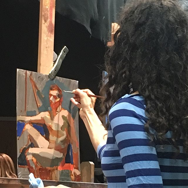 Yesterday was the last day of our Jennifer Balkan figure painting workshop. Sadly we had to send her back to Austin. We wish she could stay here forever!!! #araboston #academyofrealistart @jenniferbalkan #figurepainting #figurativeart #oilpainting #juicypaint #color #boston #austin