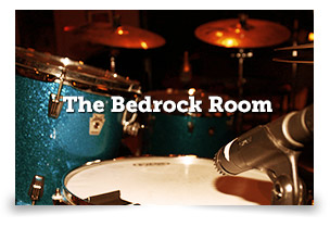 THE BEDROCK ROOM Perfect for tracking your live band!  Other uses include:  + Live video performance + recordings + Tour pre-production + Clinics / Demos + Small events + Showcases + Grand piano recording + Integrated PA system for rehearsal or playback LEARN MORE
