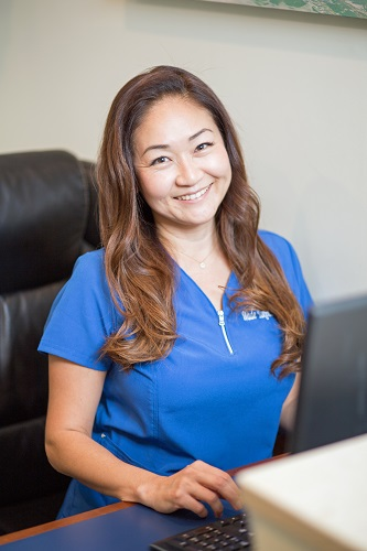 Award winning Honolulu Best Dentist Dr Wade Takenishi's Front Office - Junko