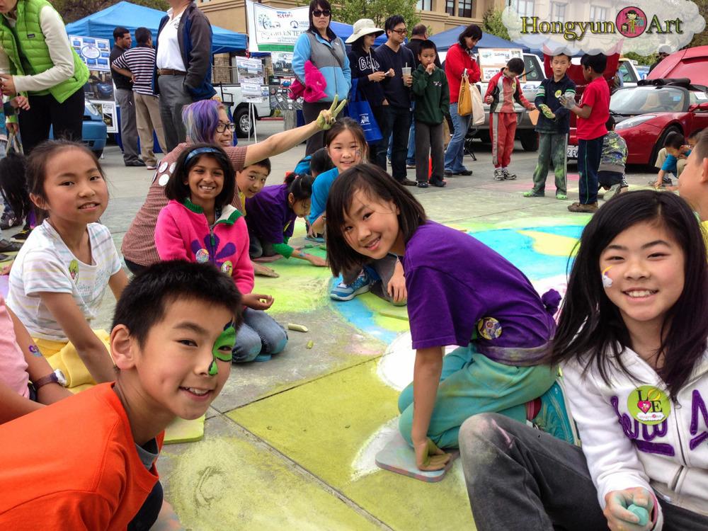 Hongyun Art students